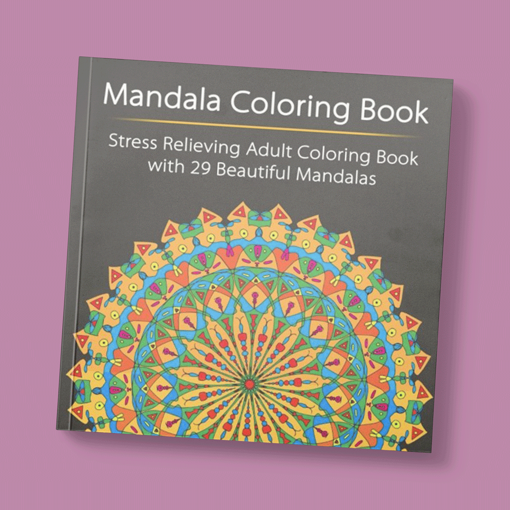 - Stress Relieving Adult Coloring Book With - Mandala Coloring Book