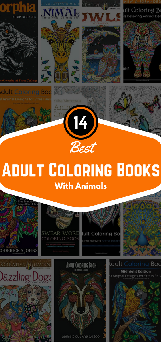 14 Best Adult Coloring Books With Animals